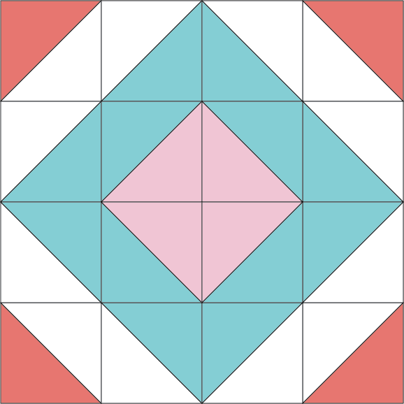 December Quilt Block of the Month-The Diamond Block