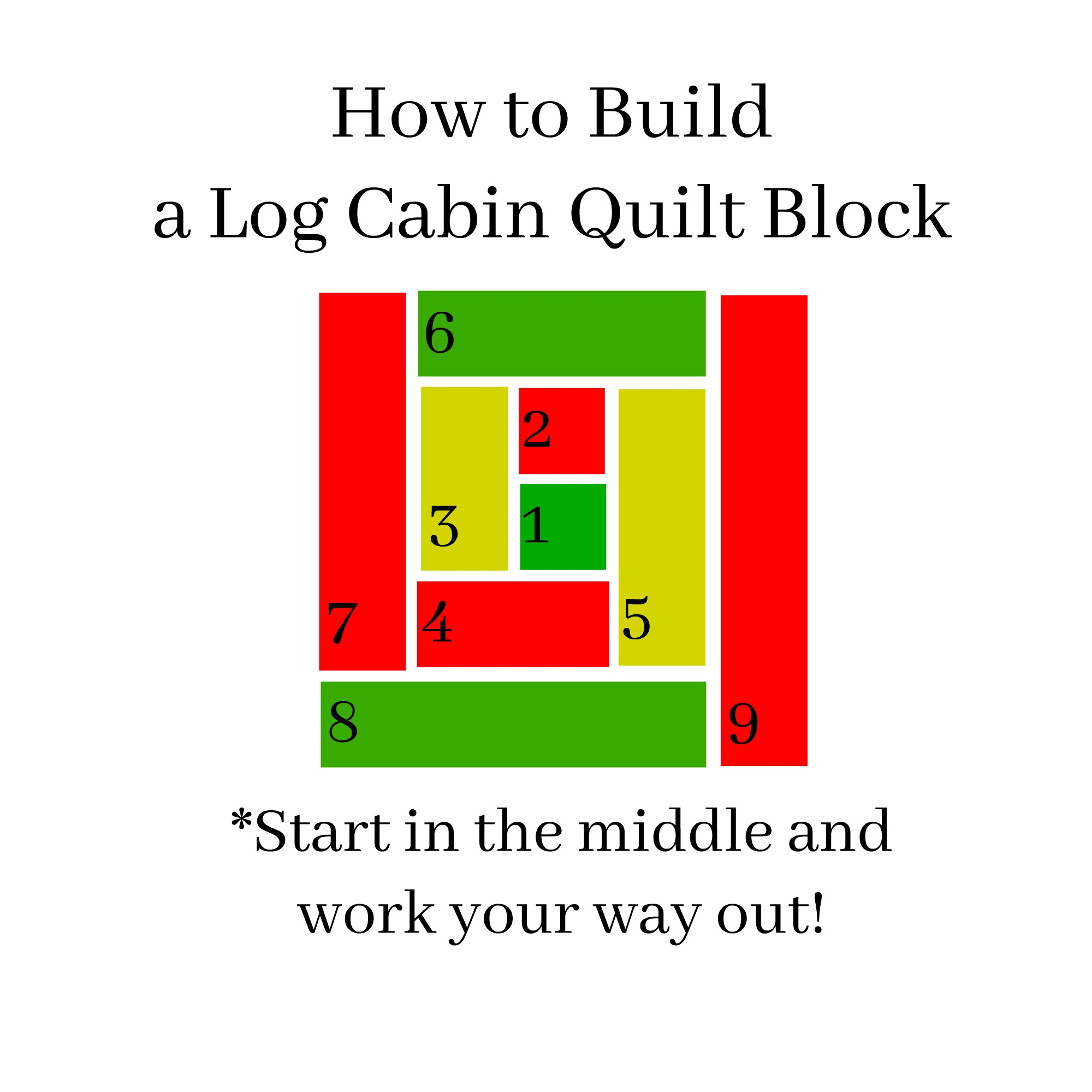 Easy Log Cabin Lap Quilt Tutorial