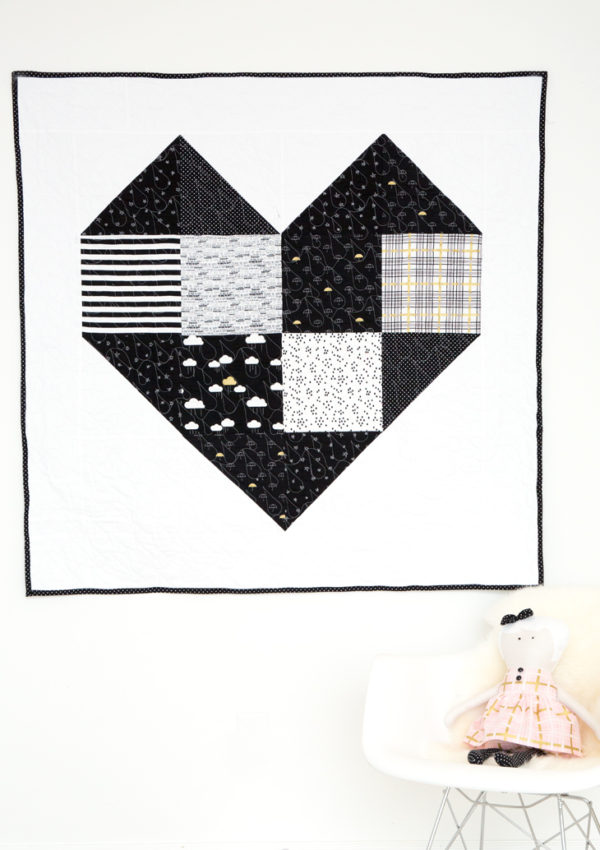 Heart Baby/Toddler Quilt Kits (And Free Pattern)