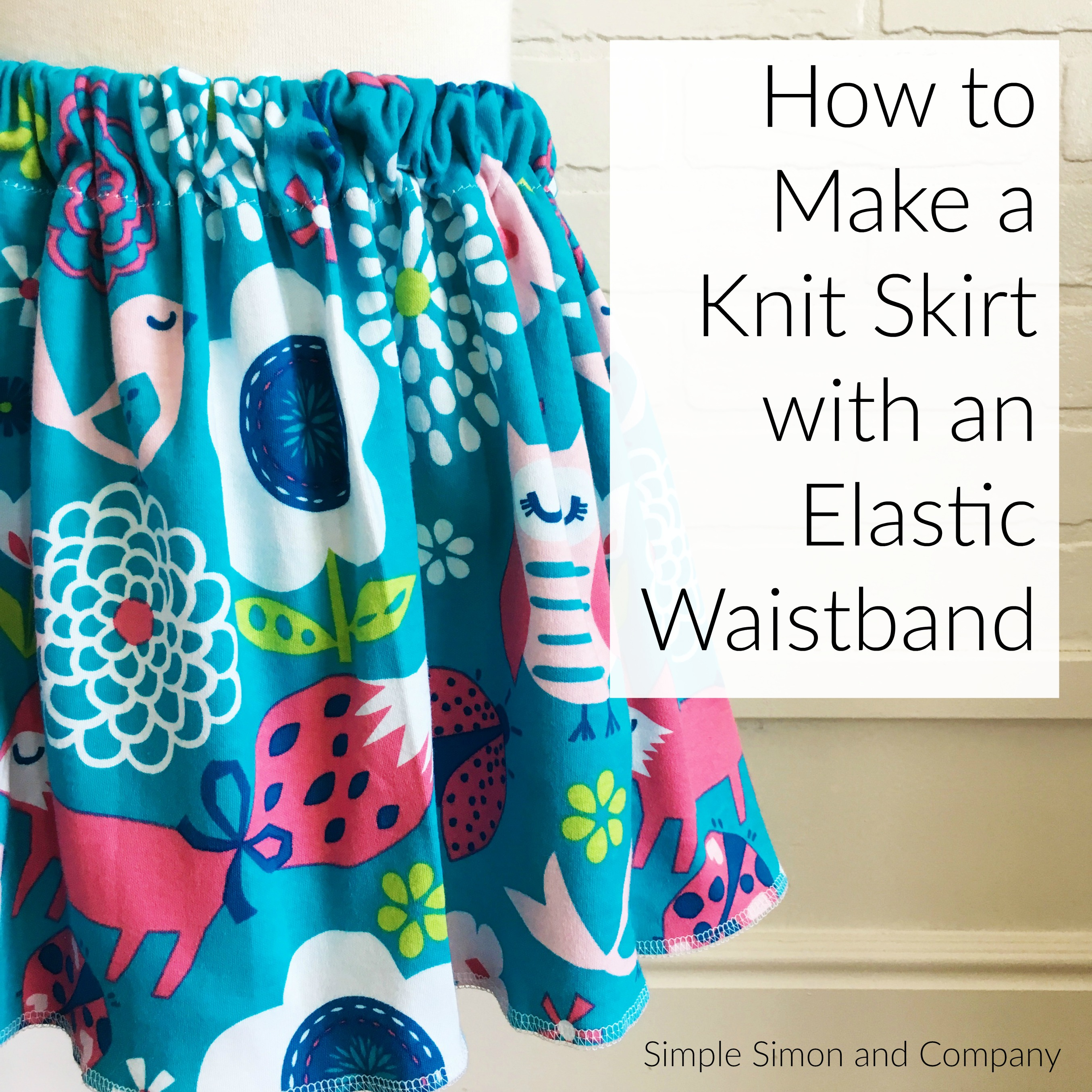 how to make an elastic waistband