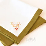 Cloth Napkin Tutorial with self-mitered corners