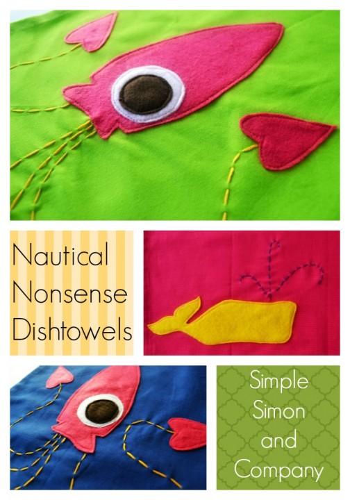 Squid Towel Collage