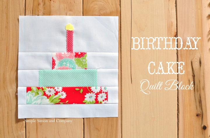 birthday cake quilt block