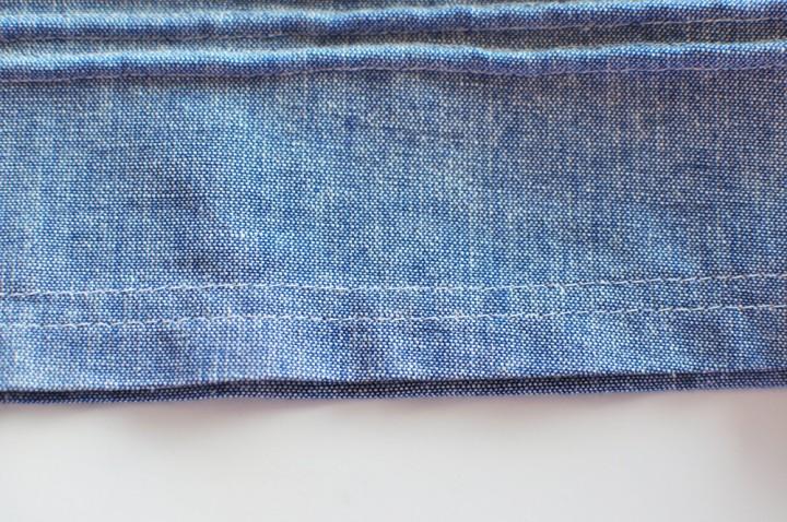 fold over and hem skirt
