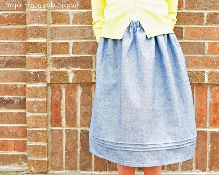 pintucked skirt real