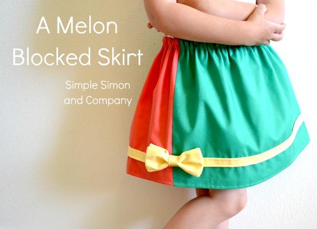 Melon Blocked Skirt