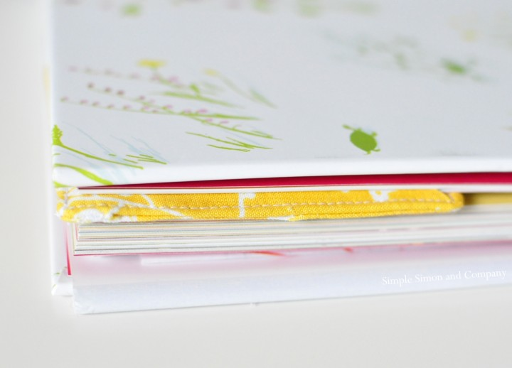 easy fabric bookmark end shot
