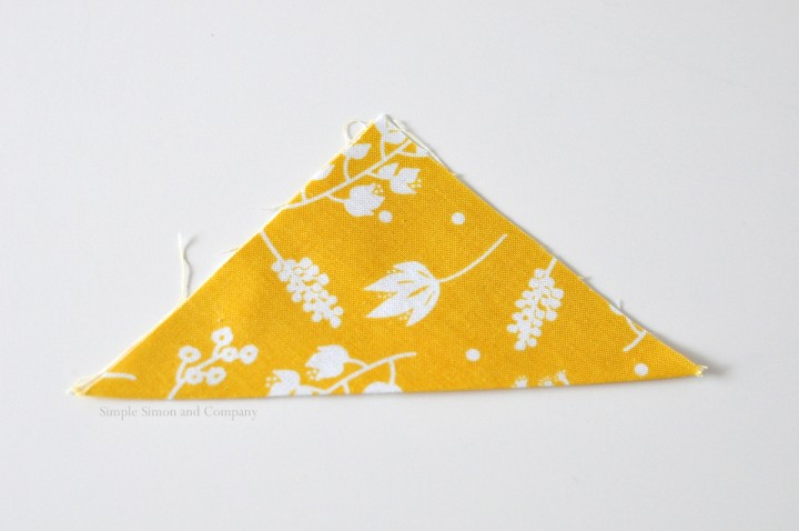 easy fabric bookmark step 1