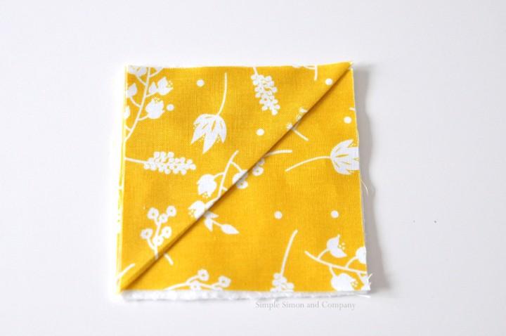 easy fabric bookmark step 2