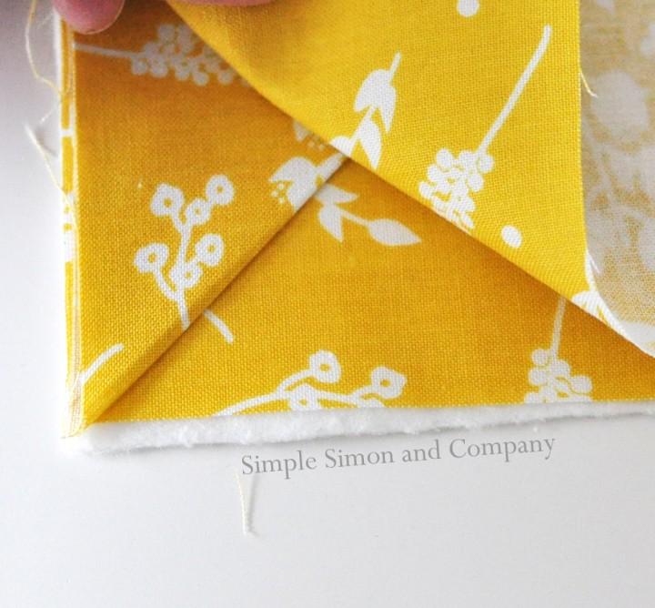 easy fabric bookmark step 3