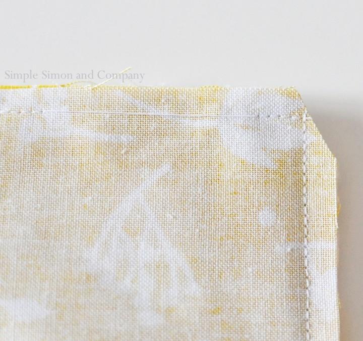 easy fabric bookmark step 4