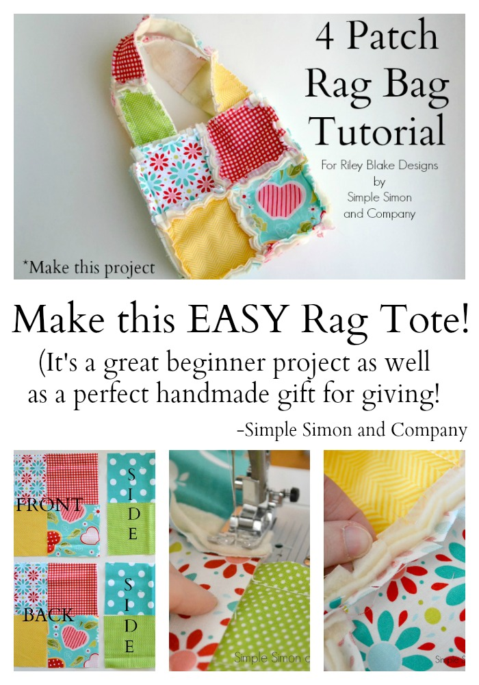4 Patch Rag Bag Tutorial Collage