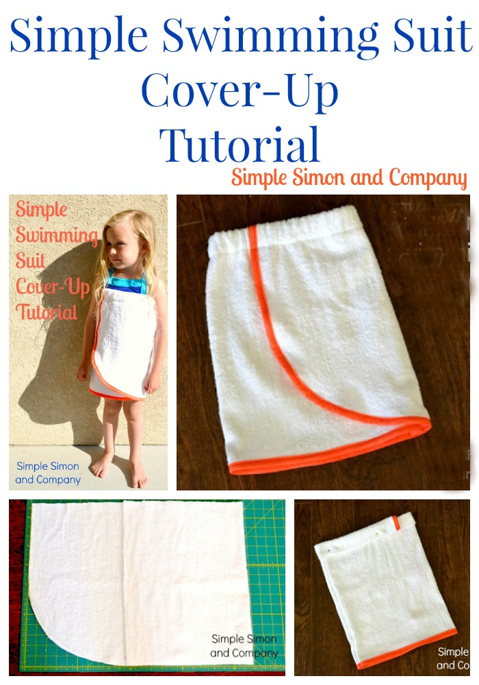 Simple Swimming Suit Cover Up Tutorial Collage