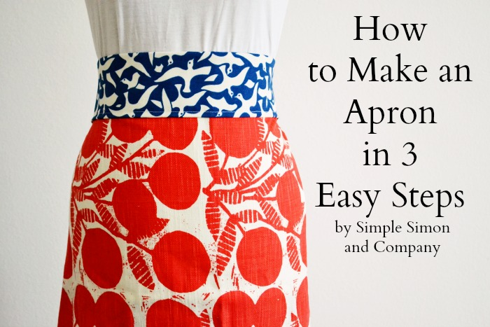 Apron in 3 easy steps