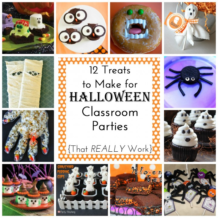 12 easy treats to make for halloween class parties for Halloween treats to make with kids