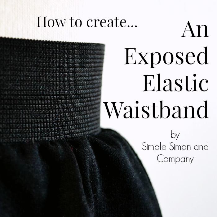 Exposed Elastic Waistband