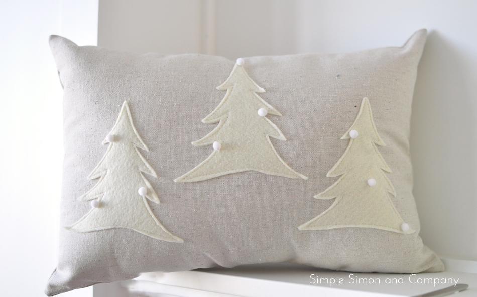 Felt Christmas Pillows With Tutorial Simple Simon And