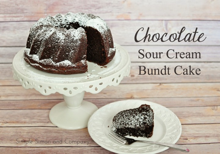 Chocolate sour cream bundt cake recipe simple simon and for Easy bundt cake recipes from scratch