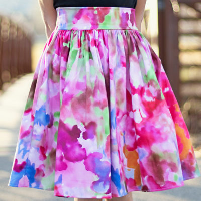 A Spring Skirt—and a tutorial on an easy gathered skirt!