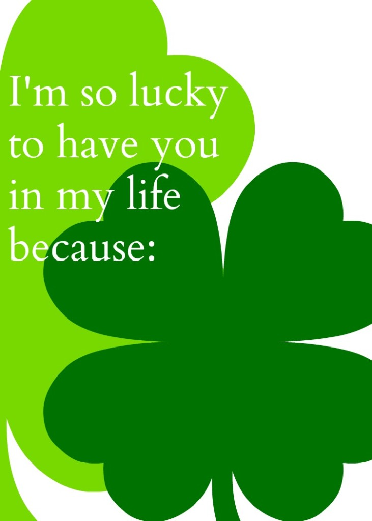 I'm so lucky Printable 750