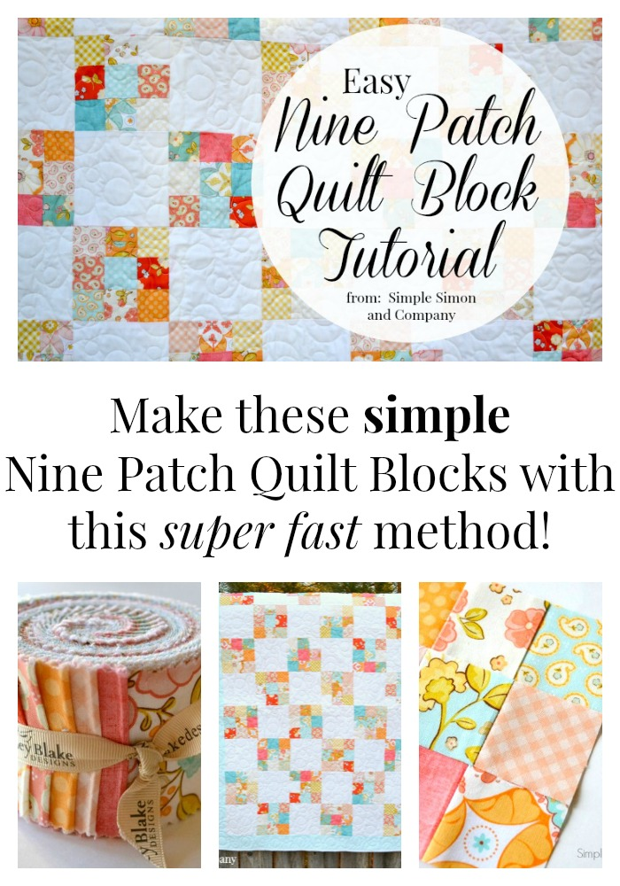 nine patch quilt collage