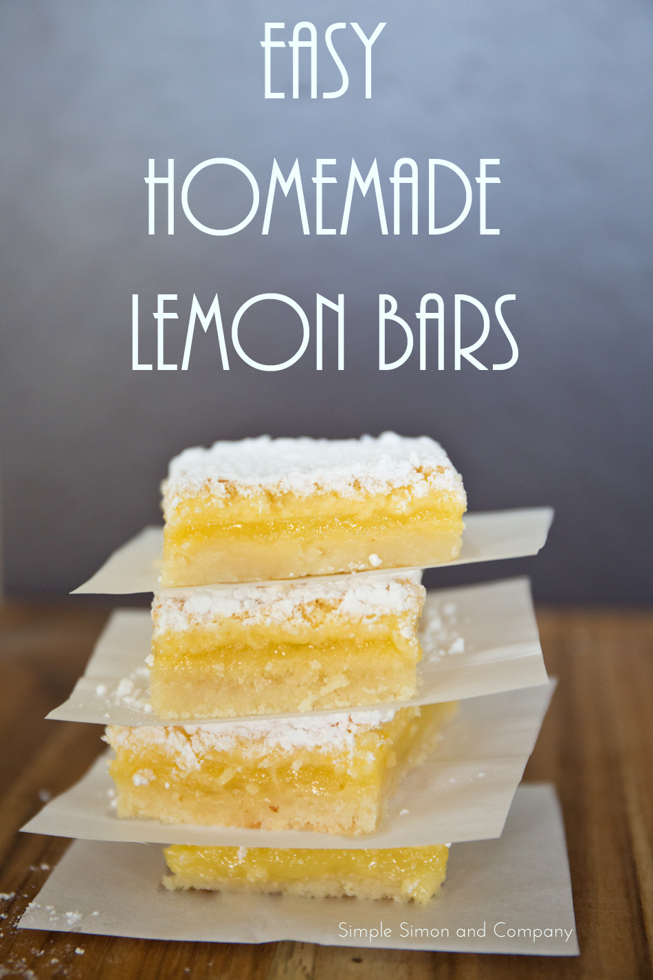 Easy Homemade Lemon Bars title