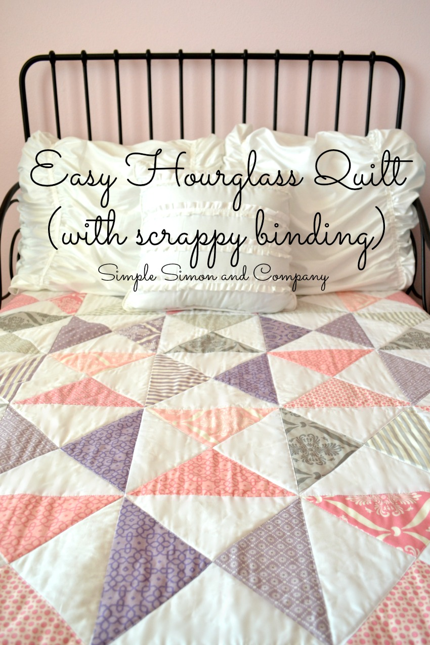 Hourglass Quilt With Scrappy Binding Simple Simon And