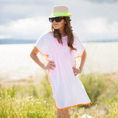 Make yourself a swim cover up in three steps.