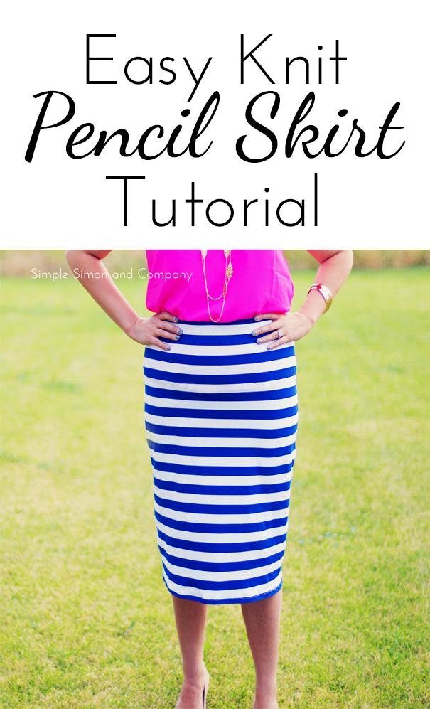 easy knit pencil skirt tutorial