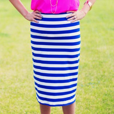 Knit Midi Pencil Skirt Tutorial