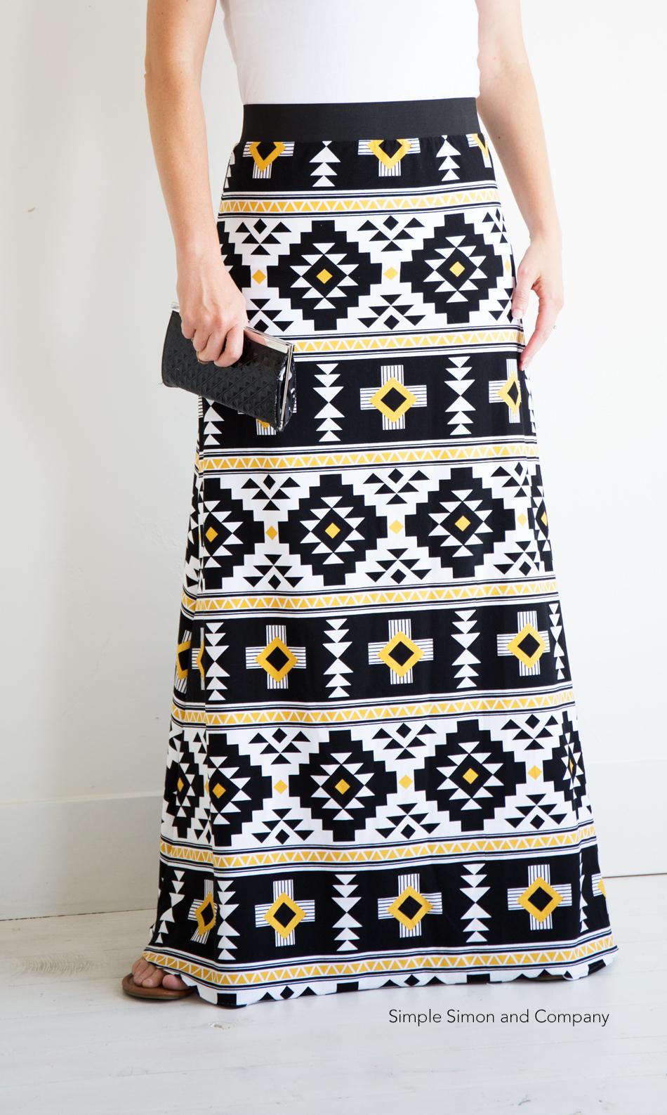 Simple Maxi Skirt PDF Pattern---FREE!!! Simple Simon and