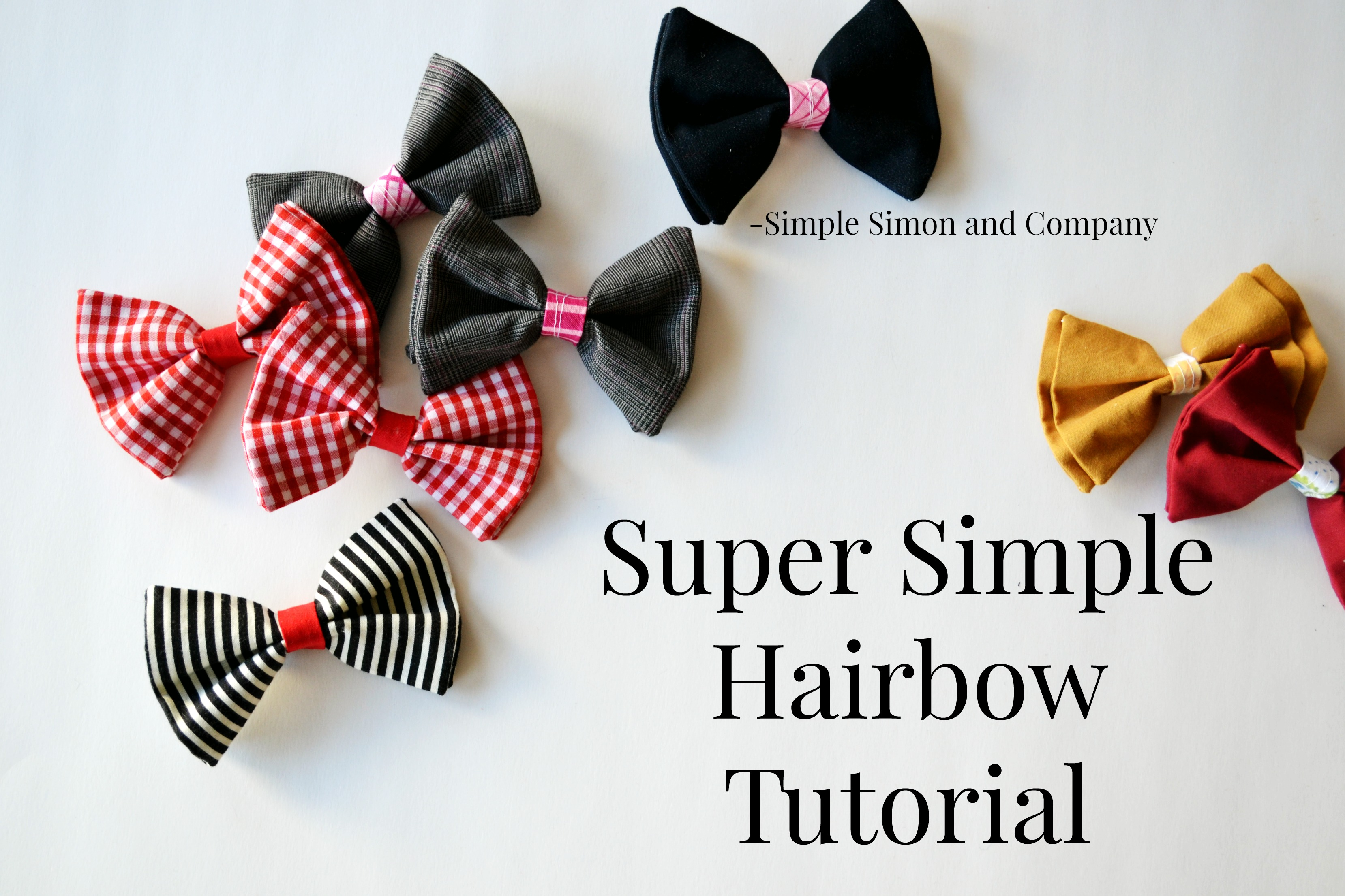Hairbow tutorial simple simon and company baditri Image collections