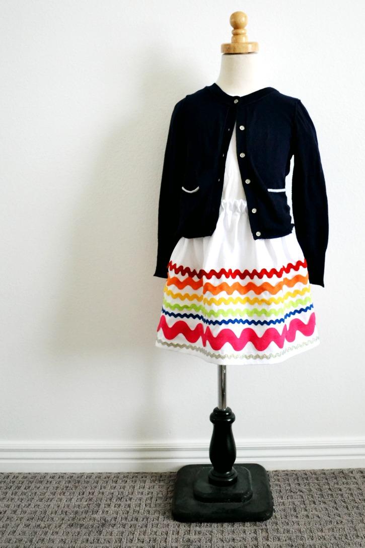 Rainbow Ric Rac Skirt Finished