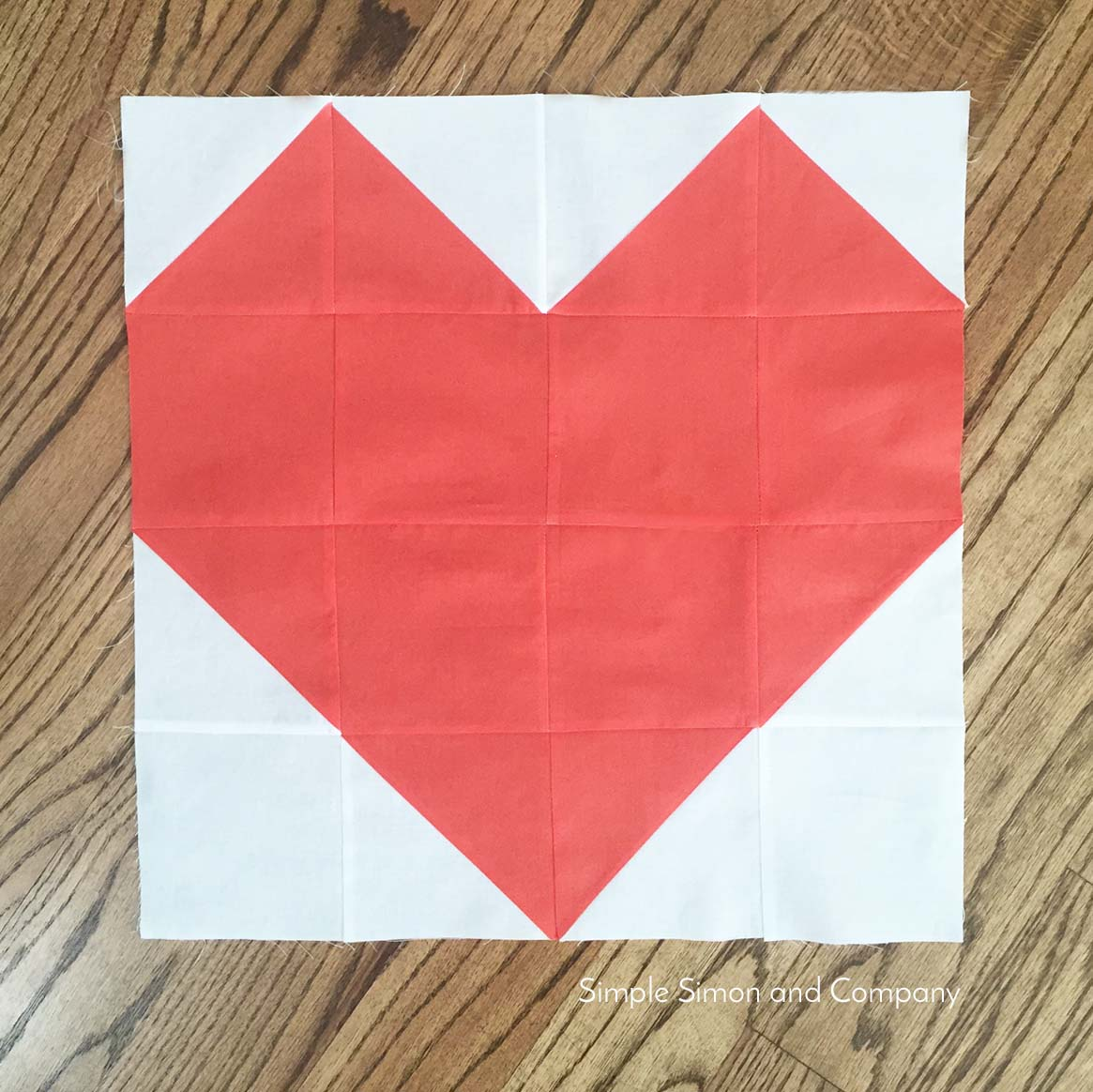 Quilt Block of the Month: Heart Quilt Block - Simple Simon