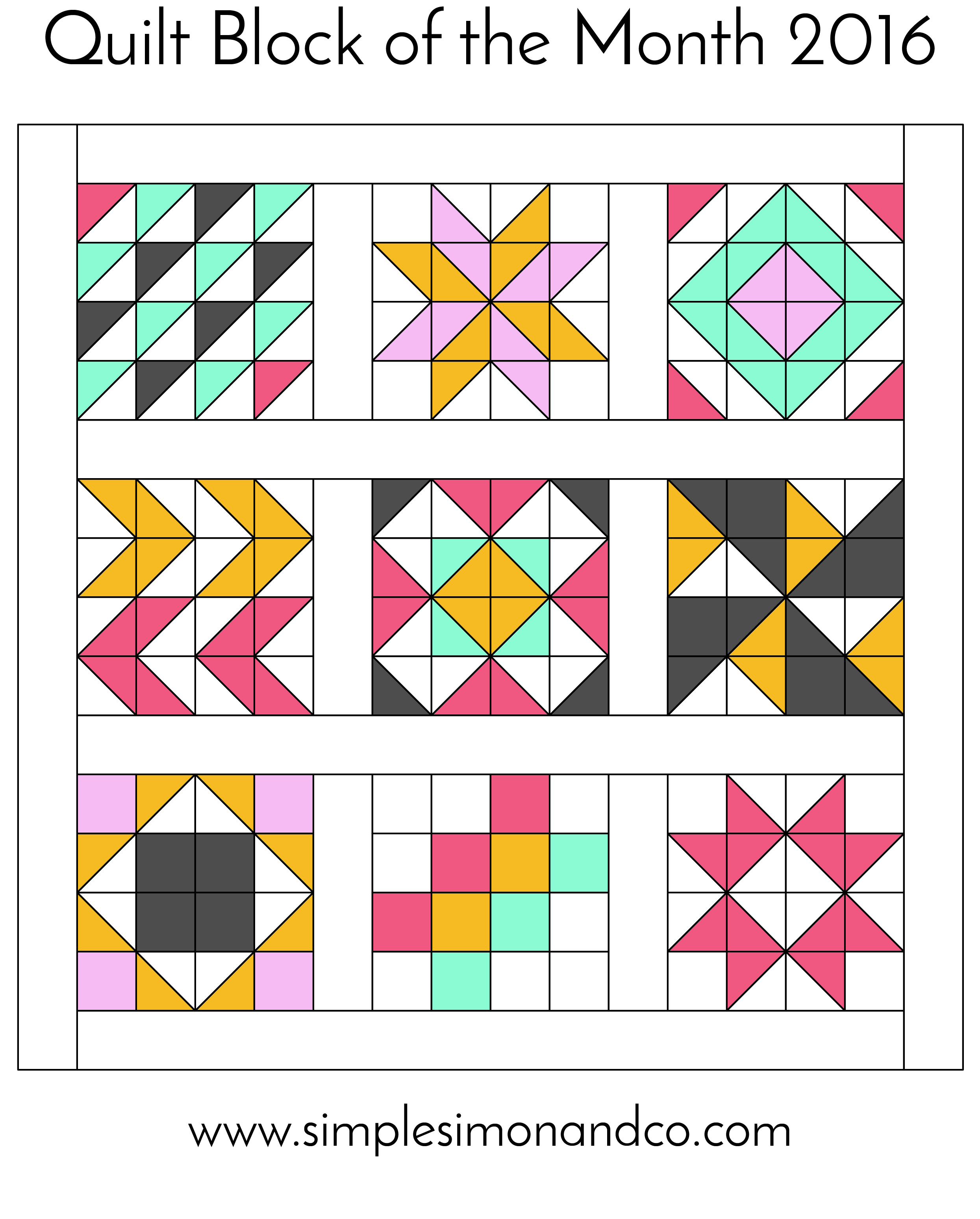 Quilt Block of the Month-The Flying Geese Block - Simple