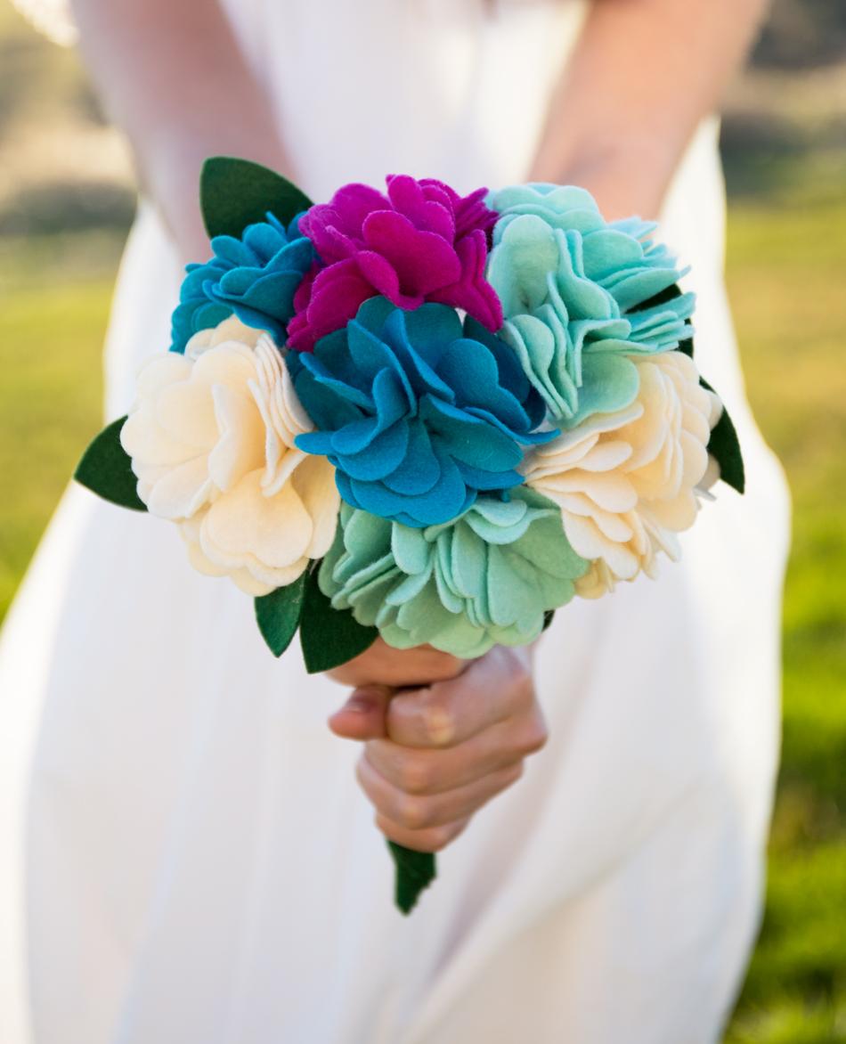 DIY Felt Flower Bouquet Tutorial