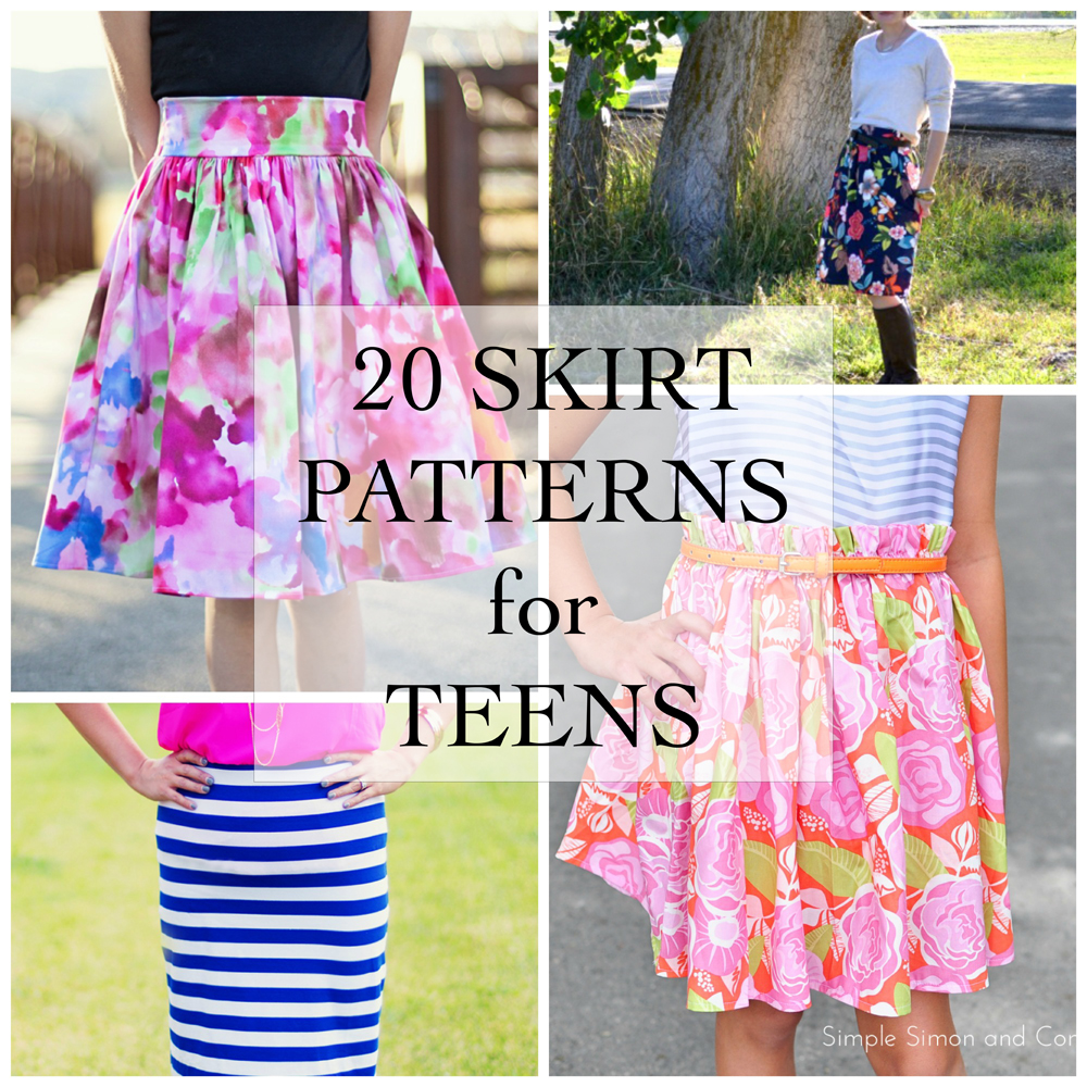 20 Skirt Patterns for Teens