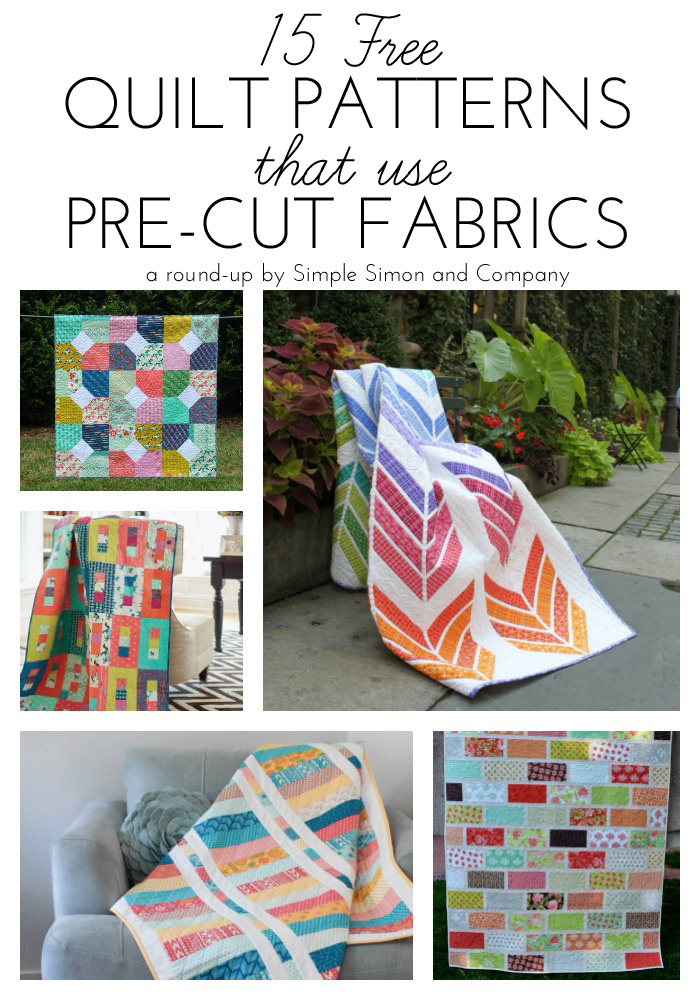 15 Free Quilt Patterns that Use Precuts! - Simple Simon and Company : quilting precuts - Adamdwight.com