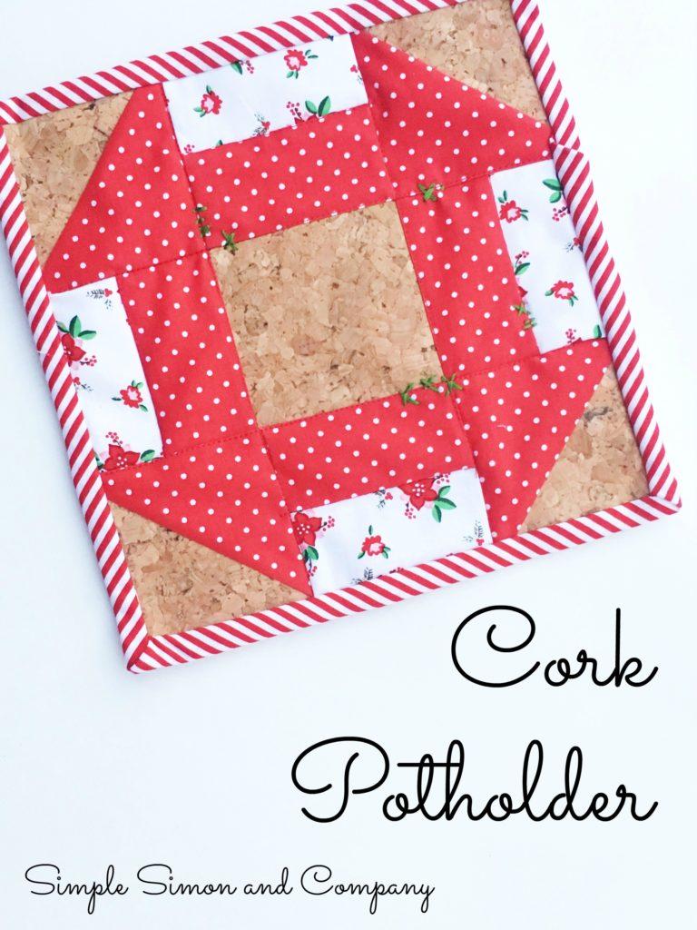 Cork churndash potholder simple simon and company for Simple cork