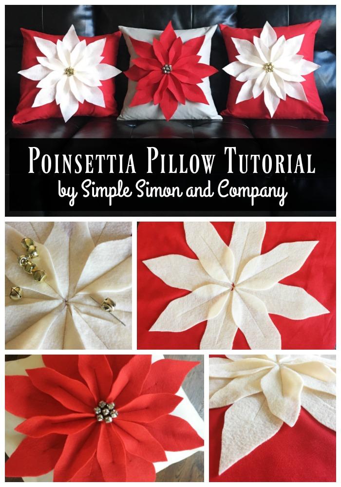 Poinsettia Pillow Tutorial And Kits Simple Simon And