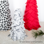 No Sew Quilted Christmas Trees