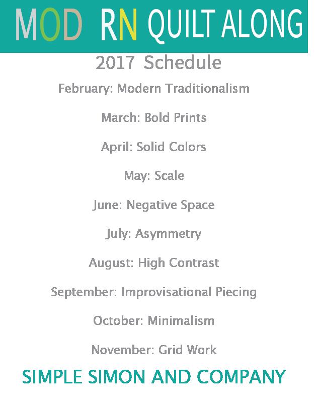 Modern Quilt Along Schedule