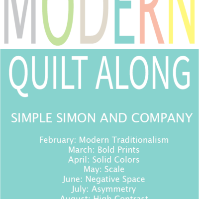Modern Quilt Along–Improvisational Piecing with Mister Domestic