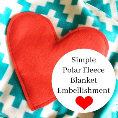 Simple Polar Fleece Blanket Embellishment