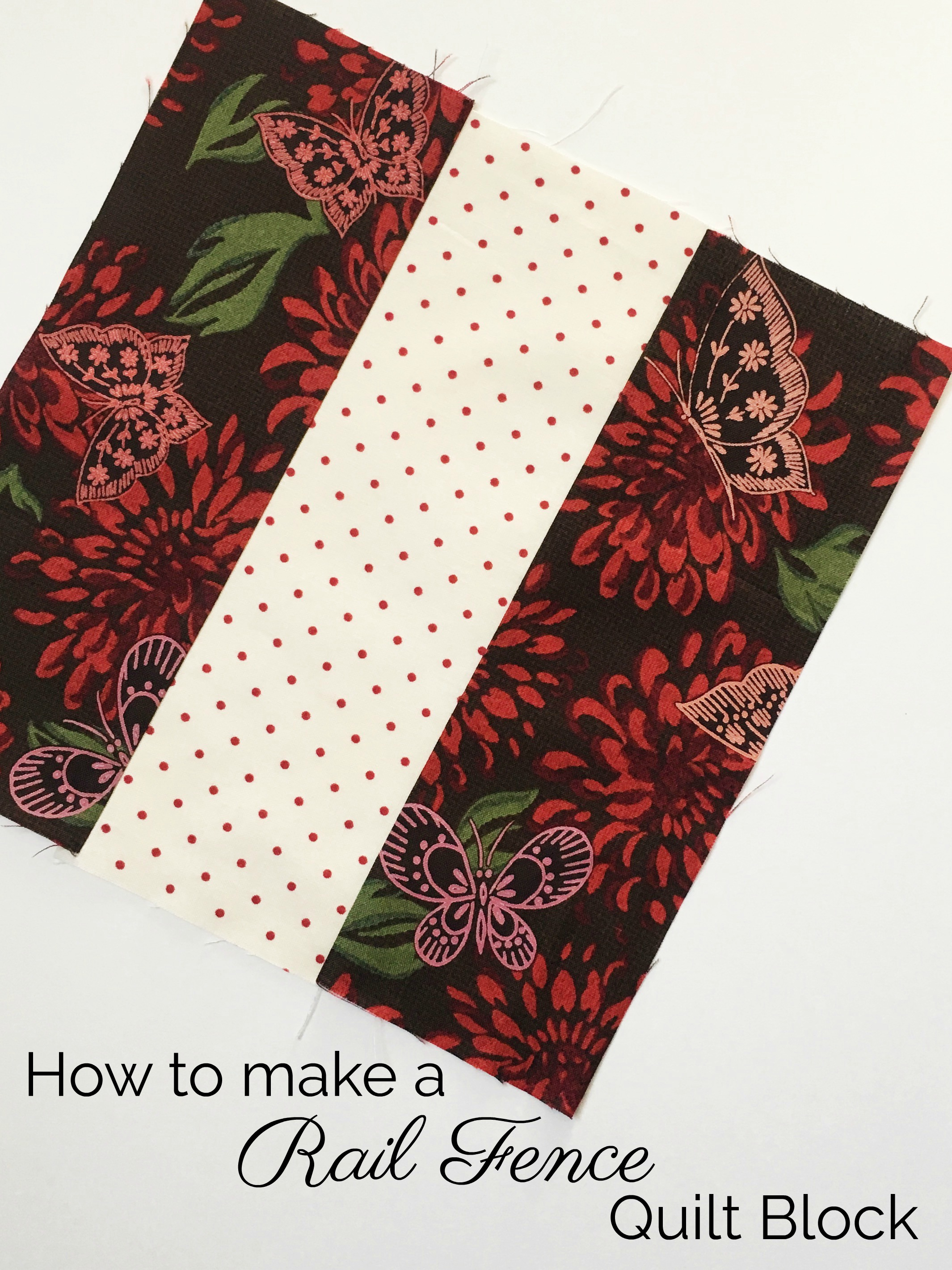 How To Block Out Traffic Noise In Bedroom: How To Make A Rail Fence Quilt Block