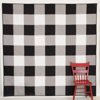 Black and White Gingham Quilt (Kits Available)
