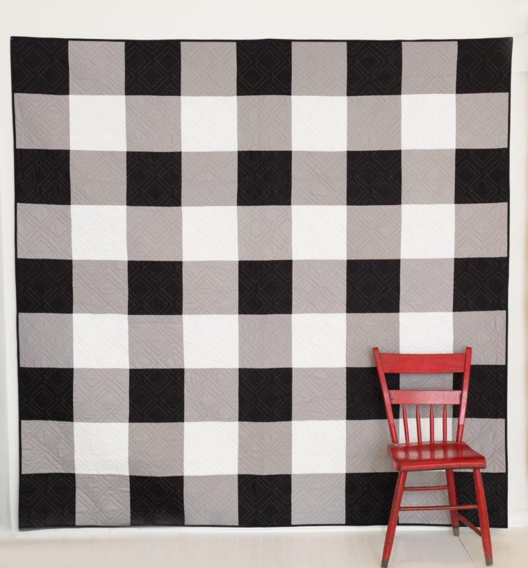 Black and White Gingham Quilt Kit