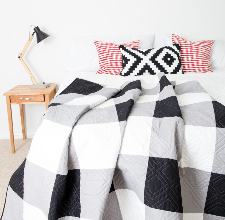 Black and White Gingham Quilt 2