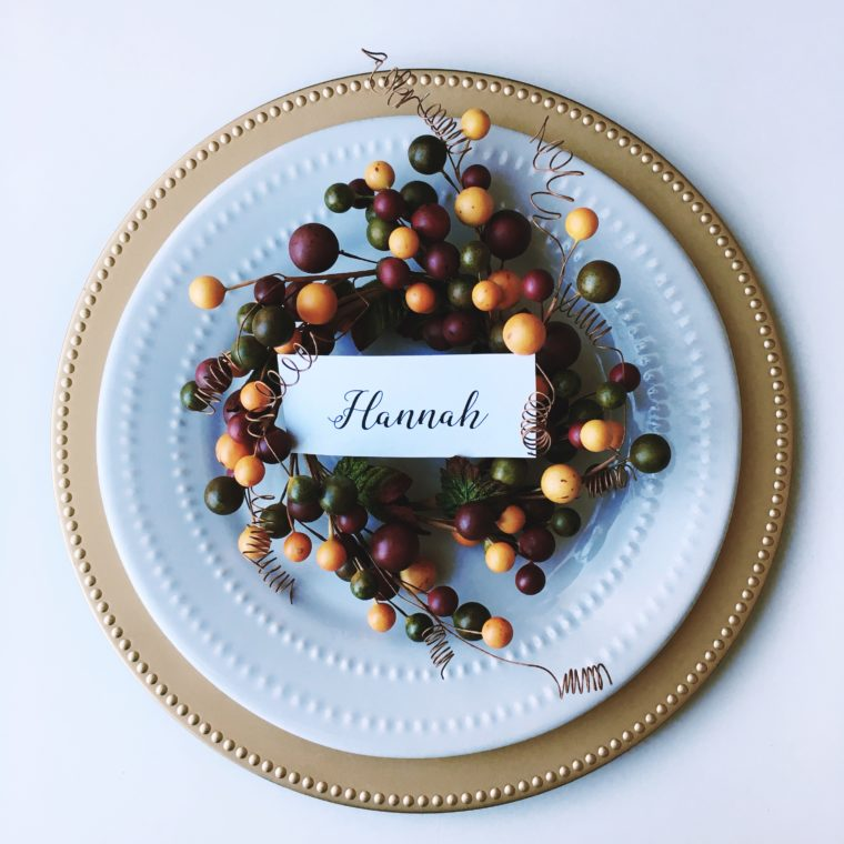 next we have something for the thanksgivng table this is a chalkboard clip that can be found at a variety of craft big box stores in their