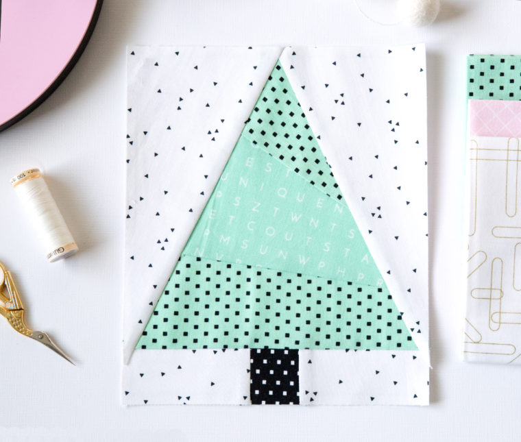 how to make a block christmas tree out of paper